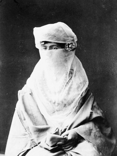 Turkish woman, before 1886. from a private photo album.