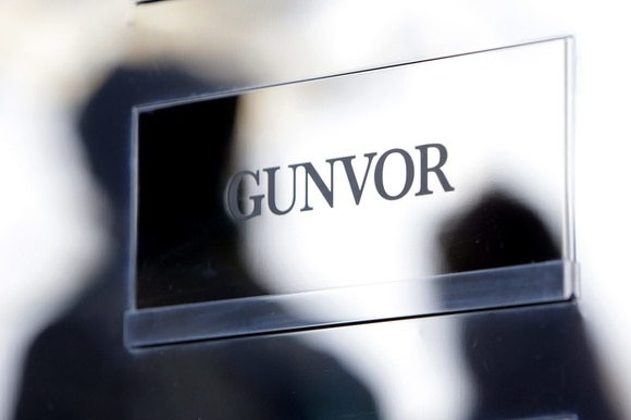 Gunvor sign with shadows of people