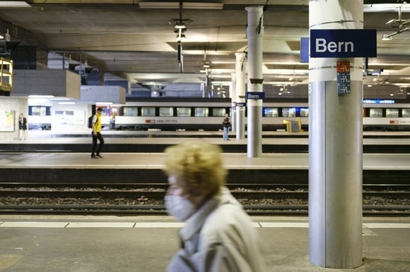 Empty Bern train station