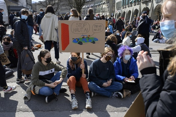 Climate protests in Bern