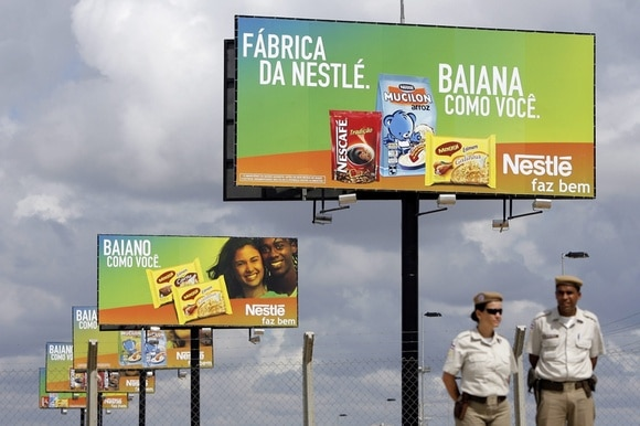 Billboards for Nestlé products