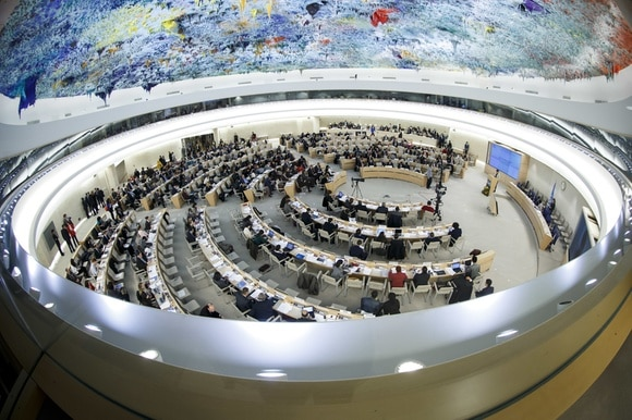 A session of the United Nations Human Rights Council in Geneva