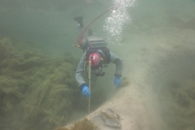 A diver in Lake Lucerne