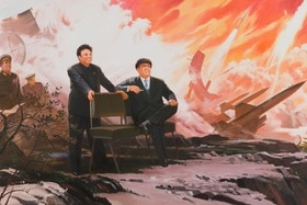 The Missiles, North Korean painting