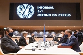 The informal talks on Cyprus were attended in Geneva by various diplomats.