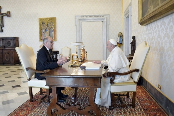 Parmelin and the Pope