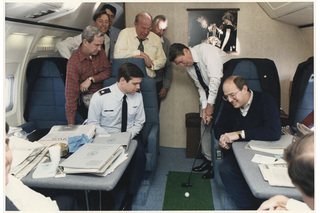 golf on Air Force One