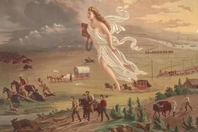 Allegorie Engel und der Westen