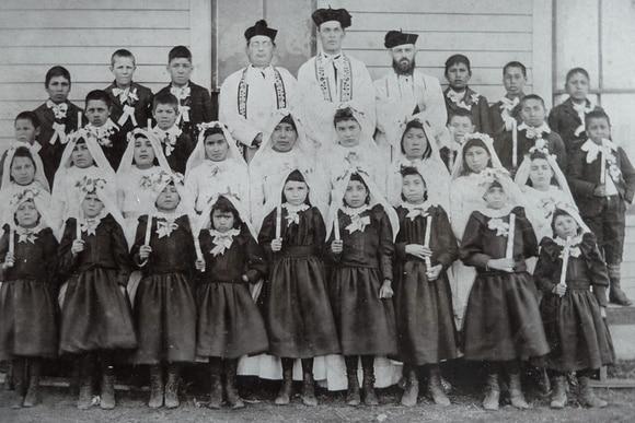 Schulklasse catholic school