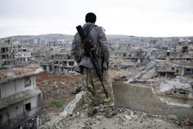 Combattant kurde en Syrie