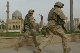 Soldaten in Baghdad